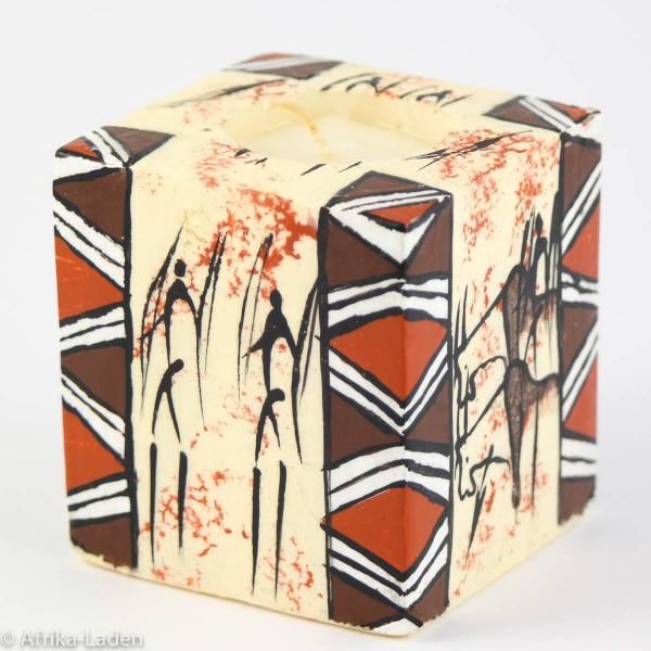 Kerze Rock Art Border Cube