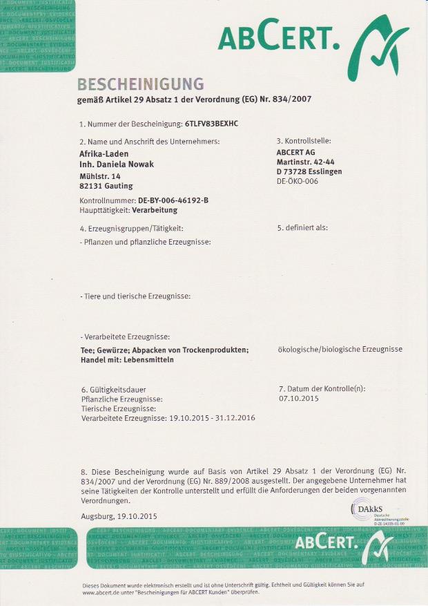 BIO-Zertifikat2016