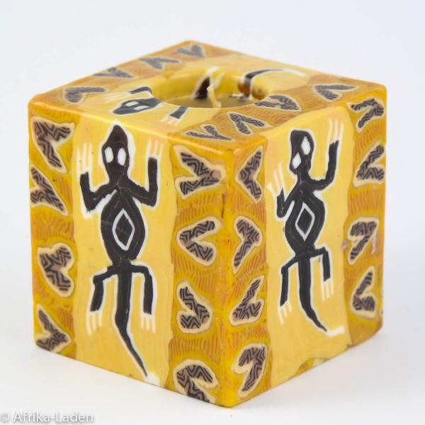 Kerze Lizard Cube