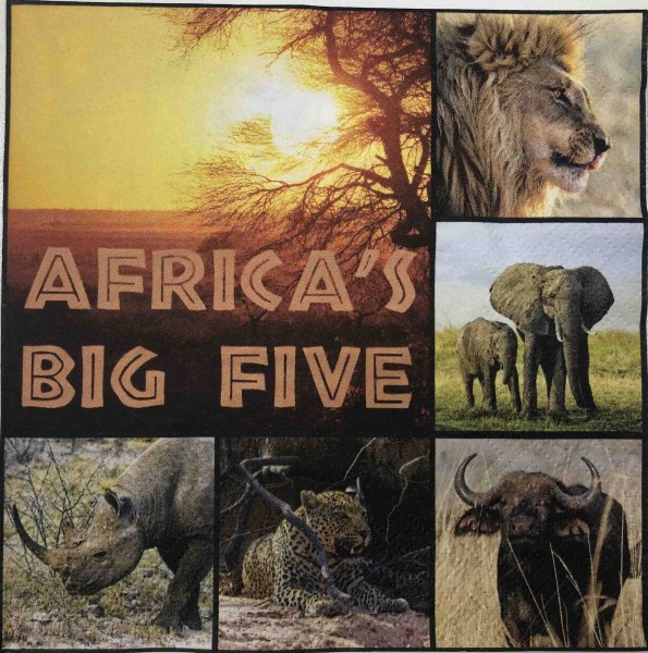 Africa´s Big Five Serviette