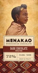 Menakao dunkle Schokolade 72%