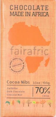 Zartbitter Schokolade mild 70% Kakao Nibs