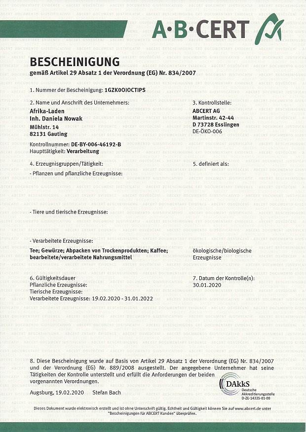 Bio-Zertifikat2020