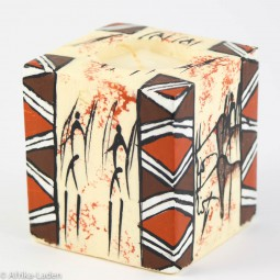 Swazi Candle Rock Art Border Cube