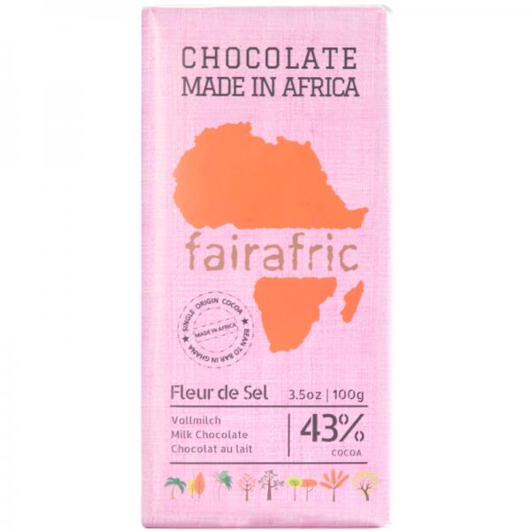 Fleur de Sel Vollmilch Schokolade Kakao 43%
