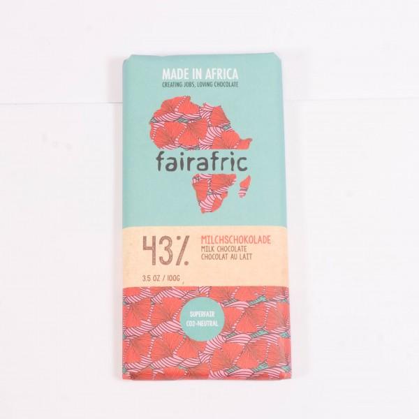 fairafric Vollmilchschokolade 43% im neuen Design