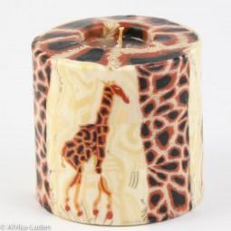 Kerze Giraffe Motiv dunkel Pillar