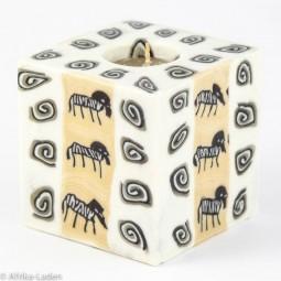Swazi Candle Zebra Toon Spiral Cube