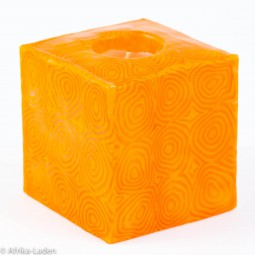 Swazi Candle Orange Spiral Cube