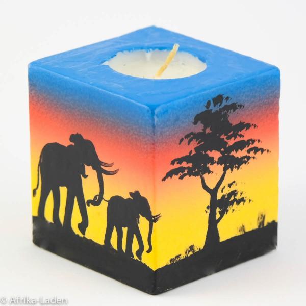 Kerze Sunrise Cube