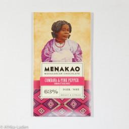 Menakao Edelbitterschokolade 63% Combava & Pink Pepper