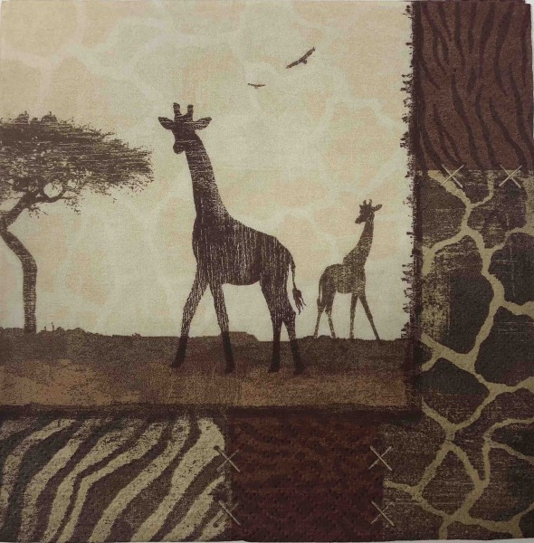 Giraffe Collage Serviette