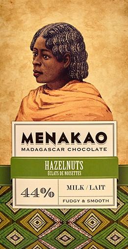 Menakao Schokolade 44% Haselnuss