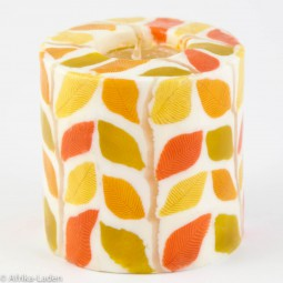 Swazi Candle Autumn Leaf Yellow Pillar