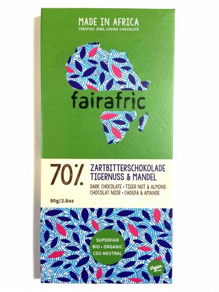 Zartbitterschokolade 70% Tigernuss & Mandel