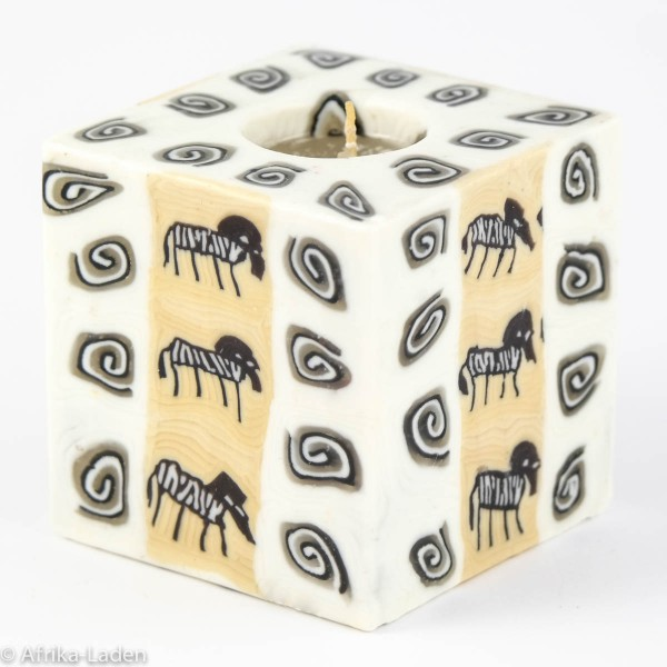 Kerze Zebra Toon Spiral Cube