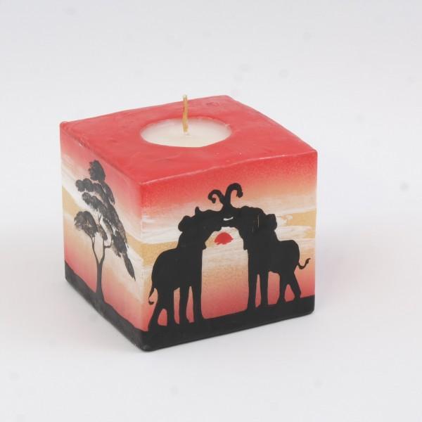 Kerze Sunset Cube